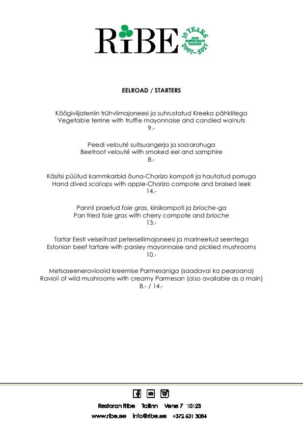 Ribe menu 3/3