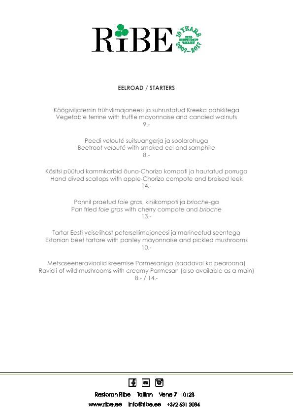 Ribe menu 2/3