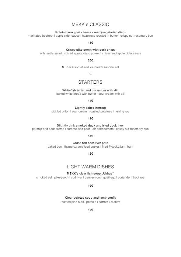 MEKK menu 3/3