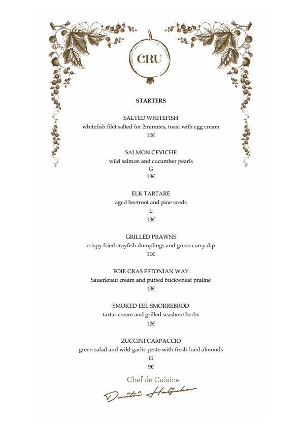 Cru menu 4/6