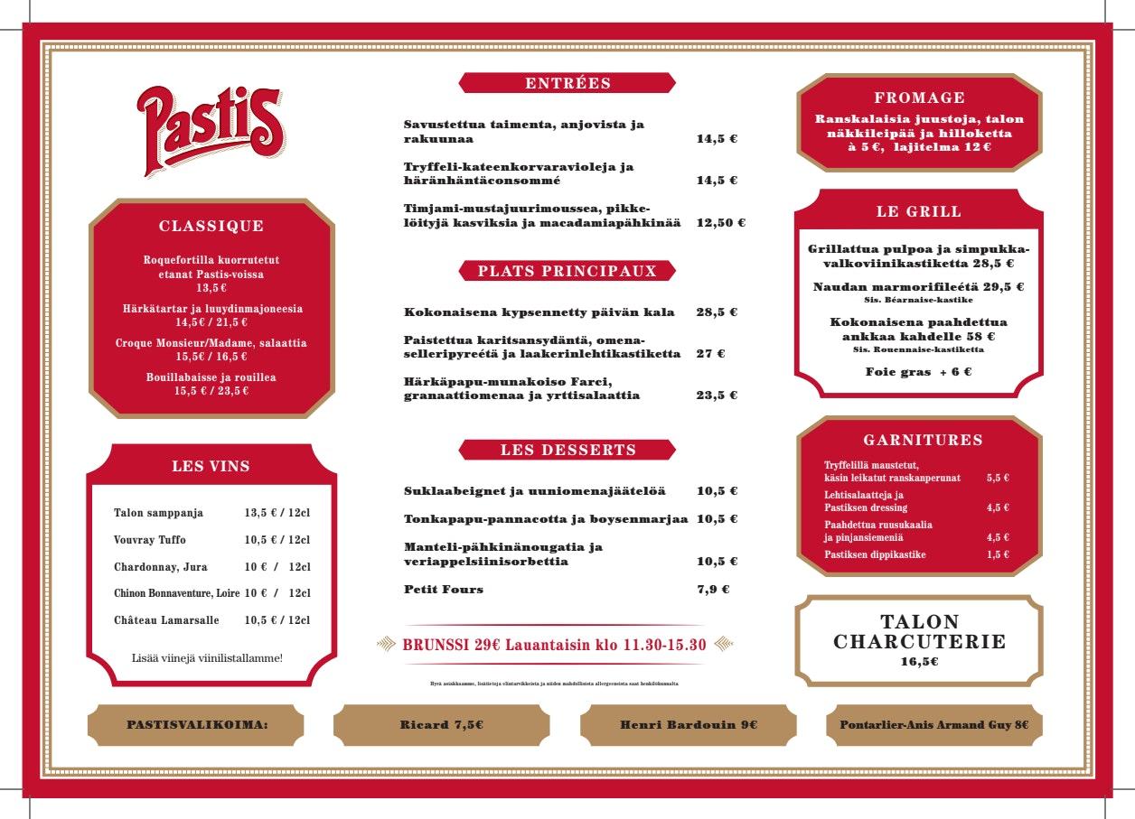 Pastis menu 1/2