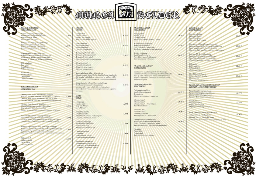 Munga Kelder menu 6/6