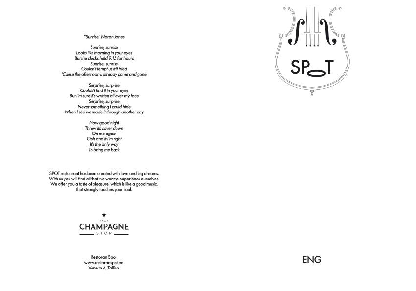 Spot menu 1/2