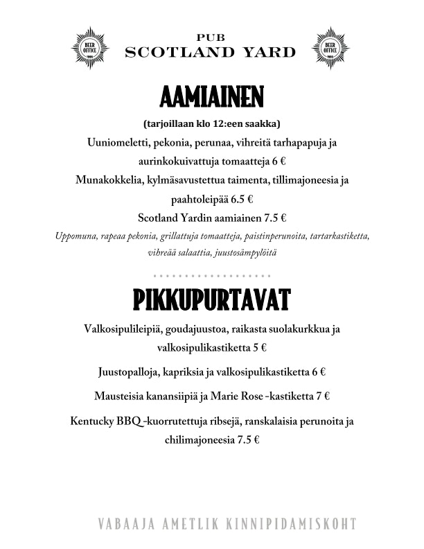 Scotland Yard menu 3/5