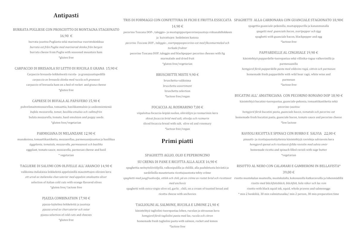 Pjazza menu 2/3
