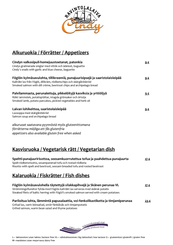 Cindy menu 1/2