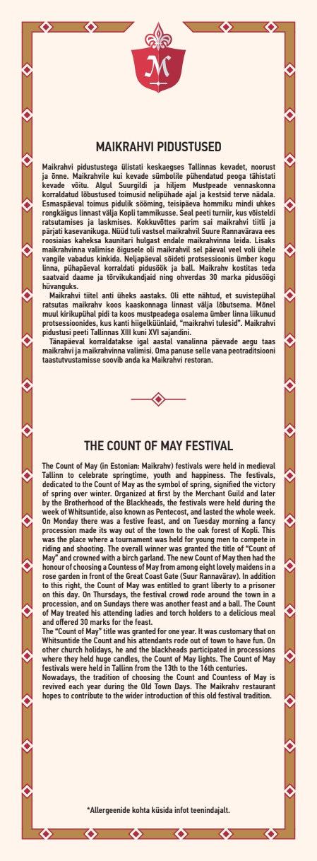 Maikrahv menu 11/20