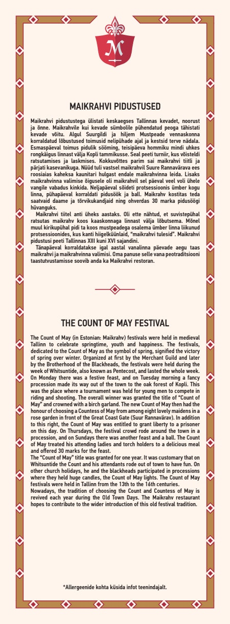 Maikrahv menu 10/20