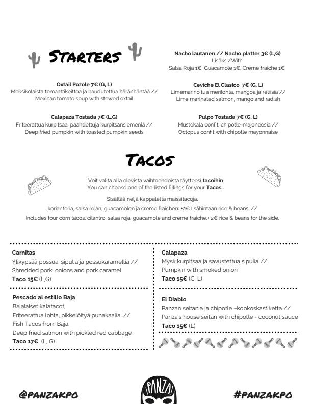 Panza KPO menu 1/3