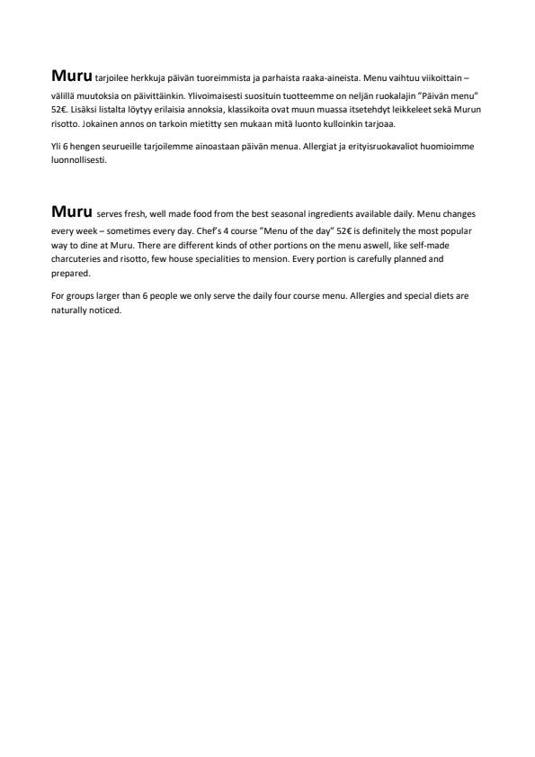 Muru menu 1/1