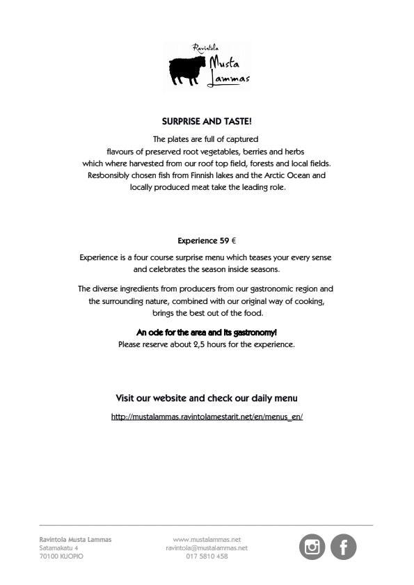 Musta Lammas menu 1/1