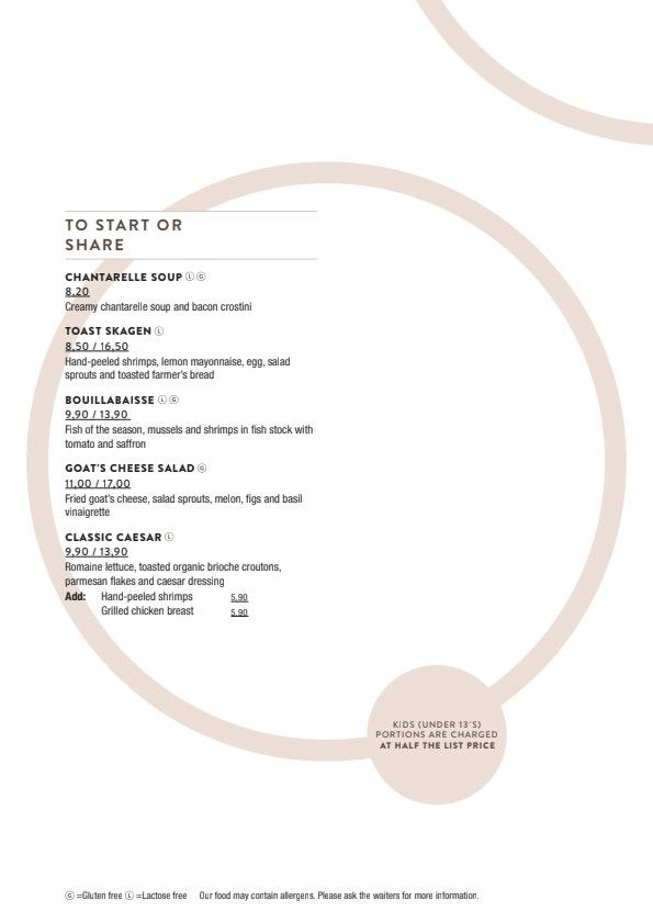 Bistro Julienne menu 3/3