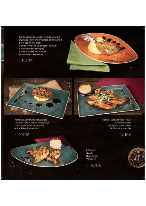 Meat & Wine menu 10/10