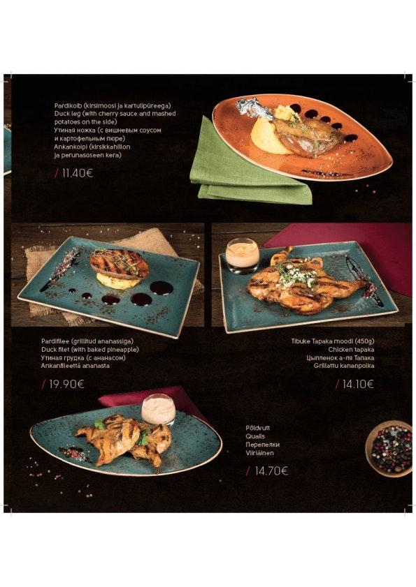 Meat & Wine menu 8/10