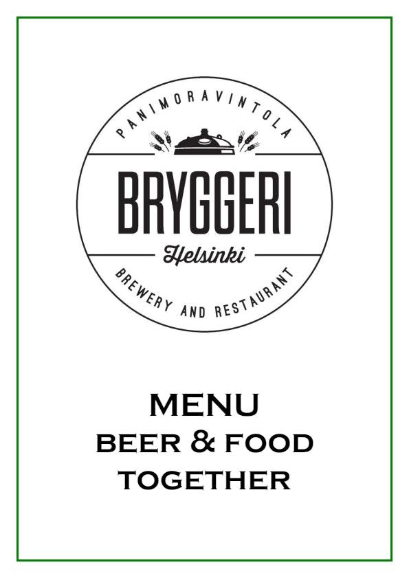 Bryggeri Helsinki menu 1/2