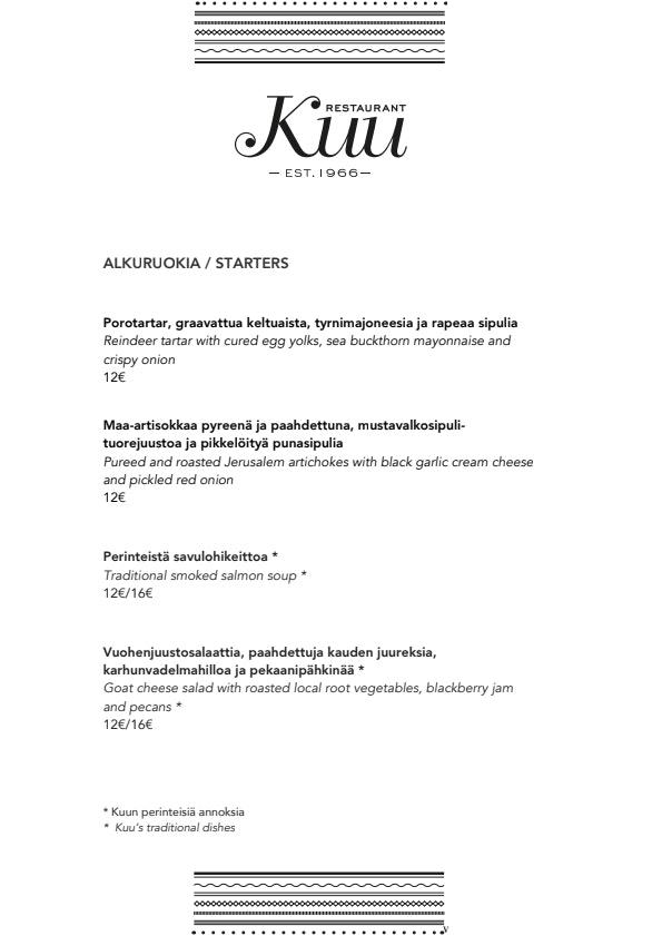 Kuu menu 5/6