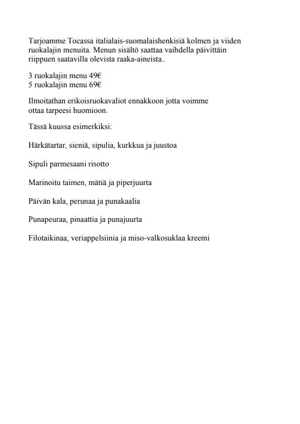 Toca menu 1/1