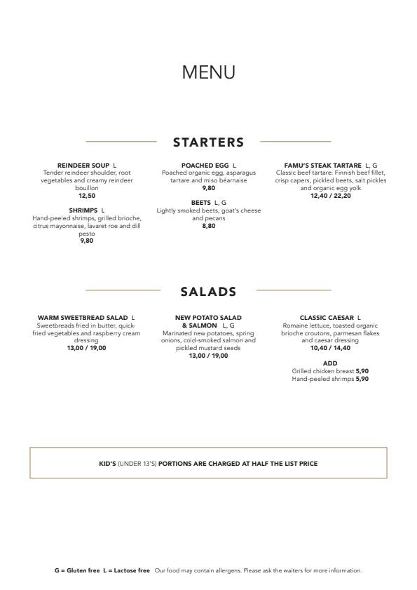 Famu menu 2/3