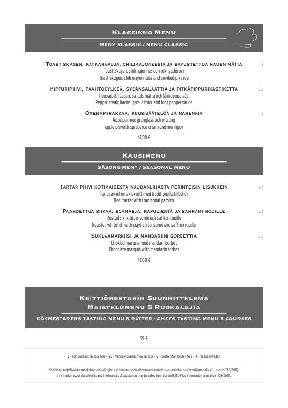 Karljohan menu 4/4