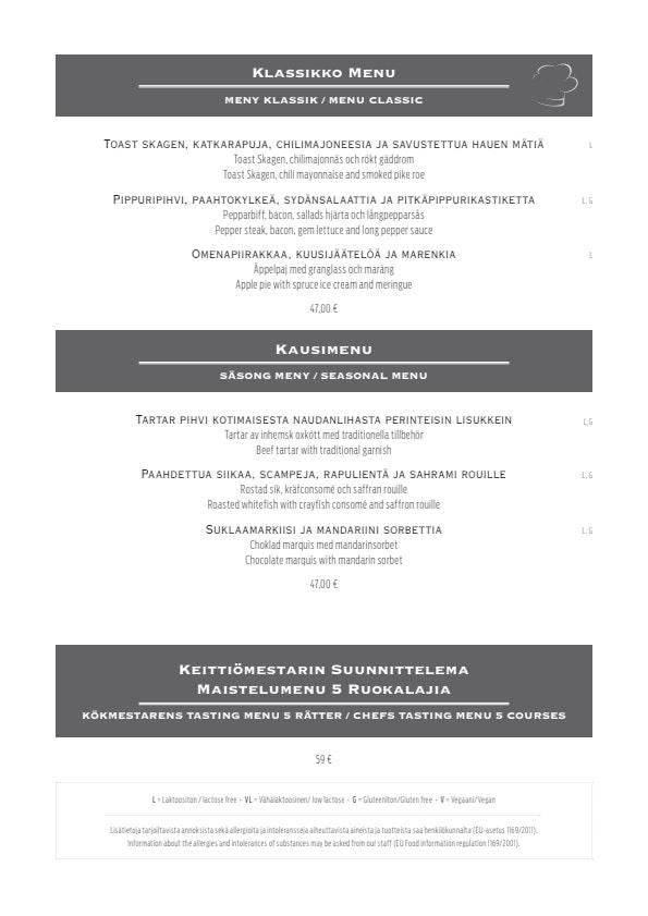 Karljohan menu 1/4