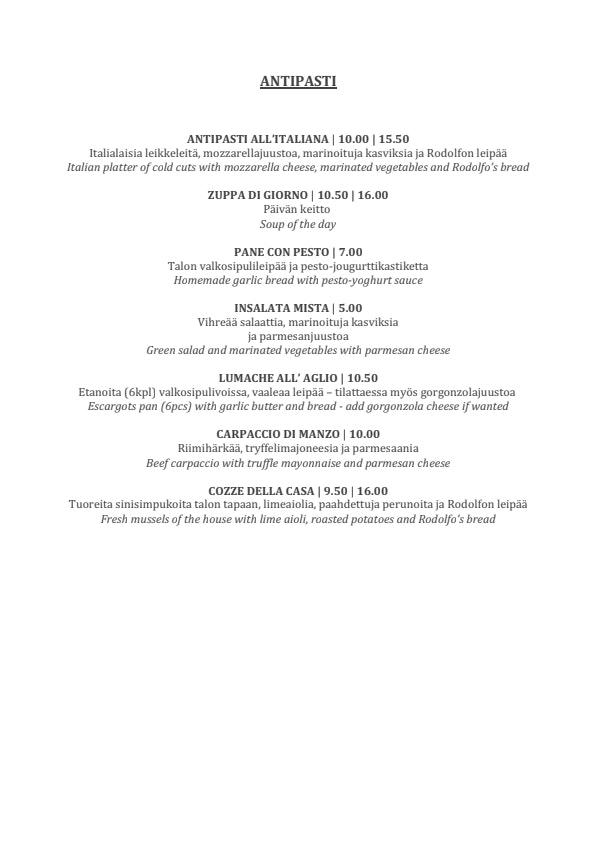 Rodolfo menu 5/7