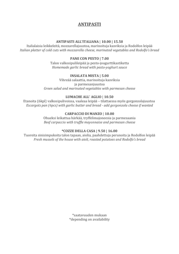 Rodolfo menu 1/7