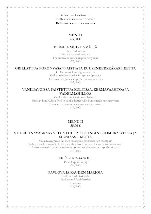 Bellevue menu 4/4