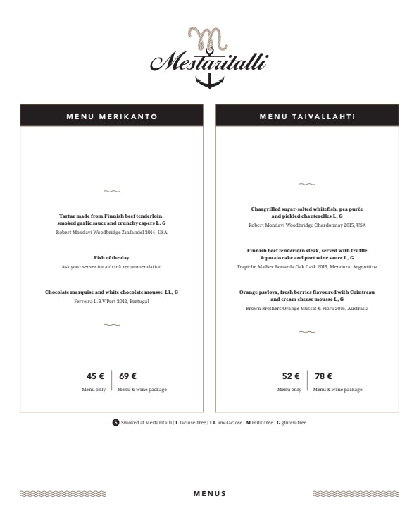 Mestaritalli menu 3/5