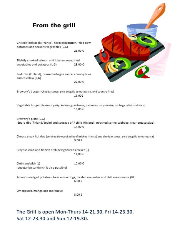 Panimoravintola Koulu menu 2/2