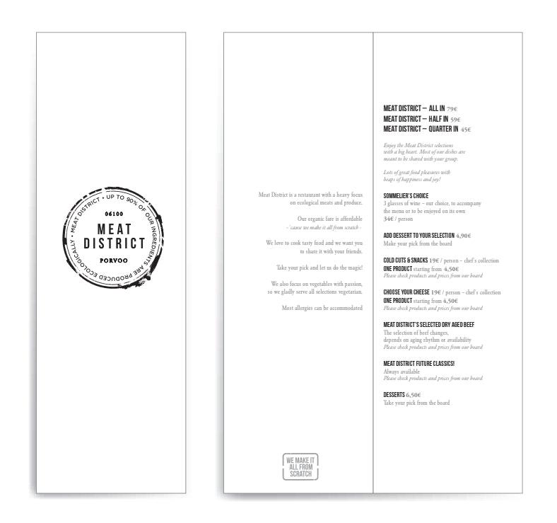 Meat District menu 1/1