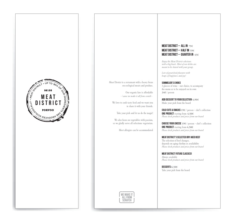 Meat District menu 1/1
