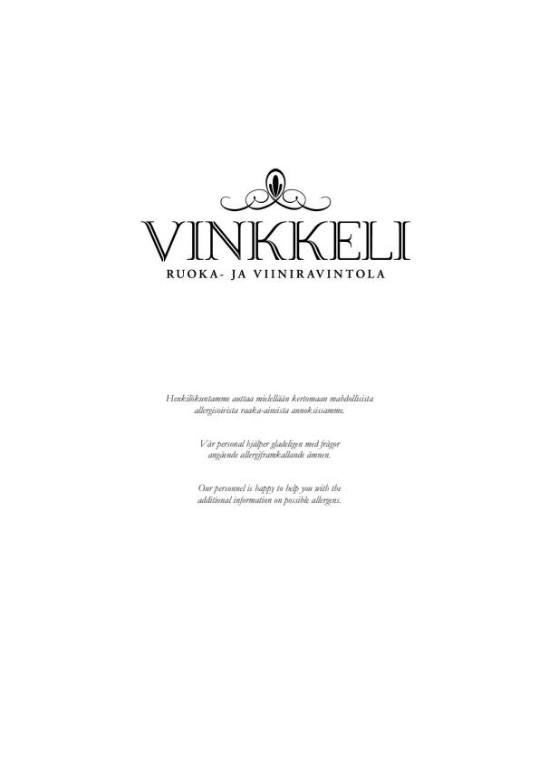 Vinkkeli menu 3/4