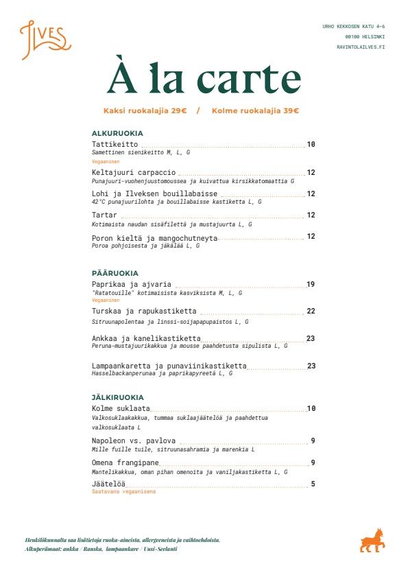 Ilves menu 1/1