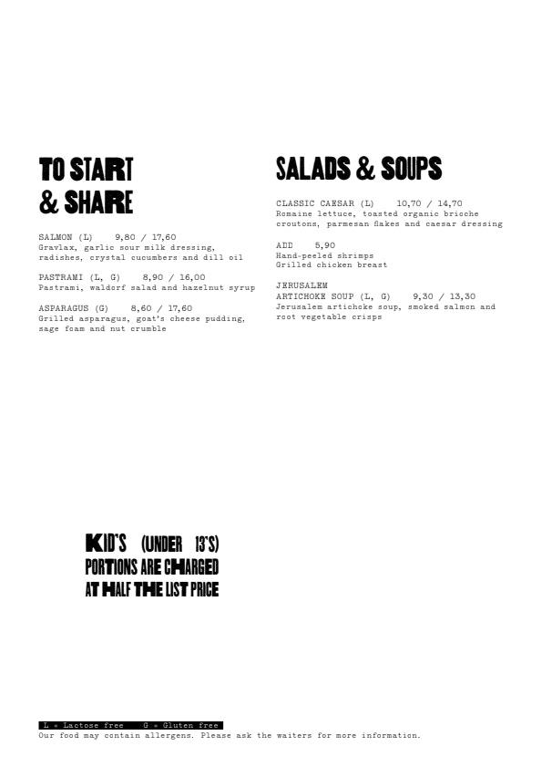 Scandic Bistro Meilahti menu 2/3