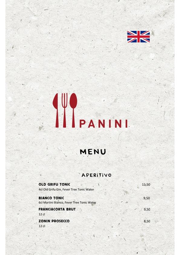 Panini menu 1/4