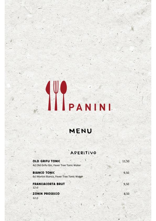Panini menu 4/4