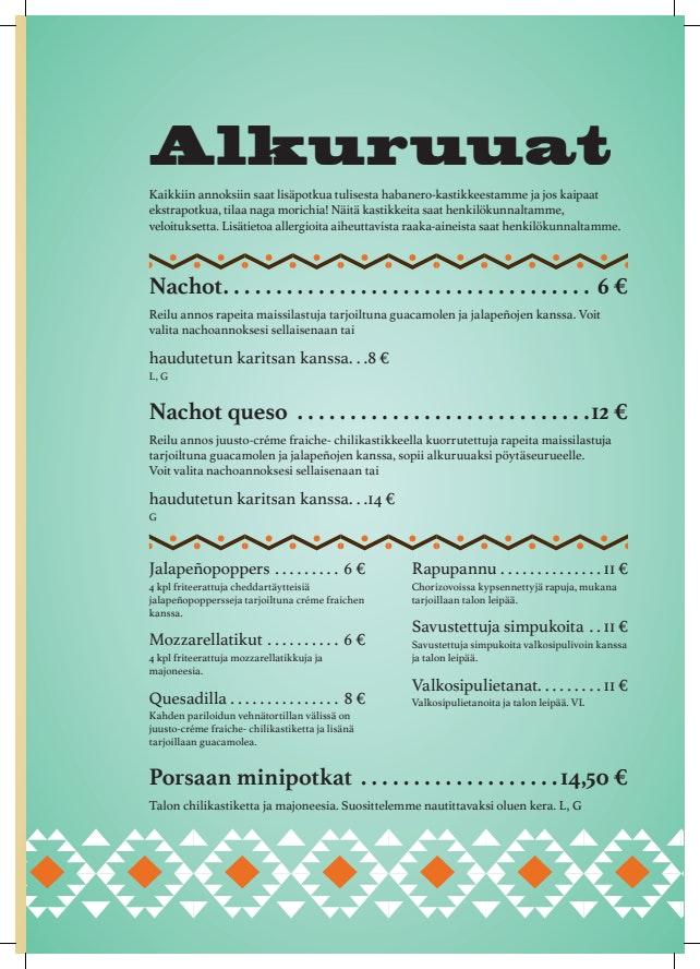 Cantina Azteca menu 1/6
