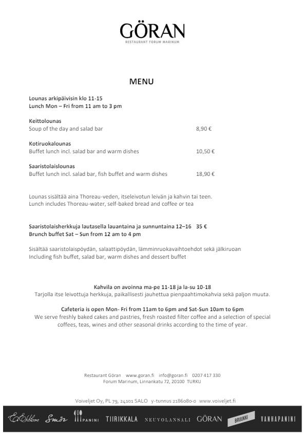 Göran menu 1/1