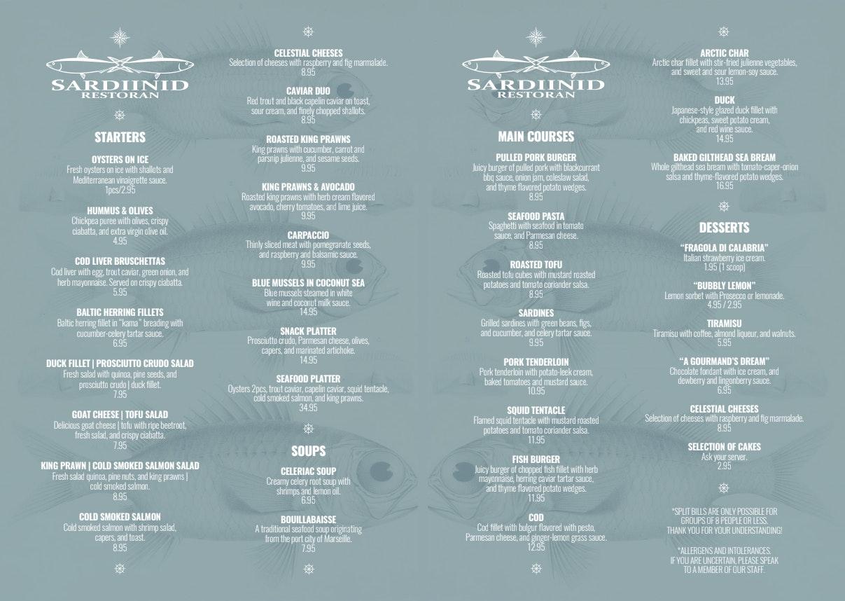 Sardiinid menu 2/2