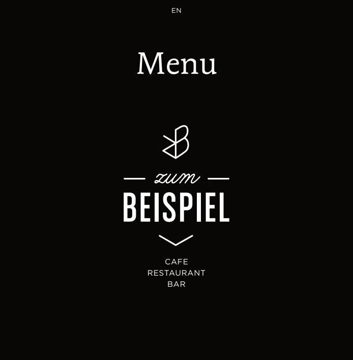 Zum Beispiel menu 9/12
