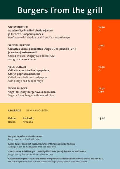 Story Kortteli menu 1/8