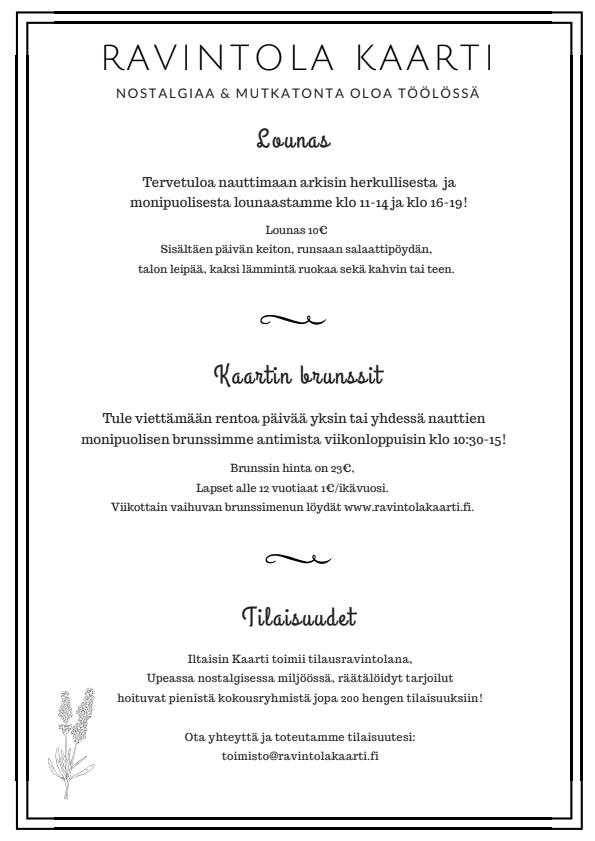 Kaarti menu 1/1