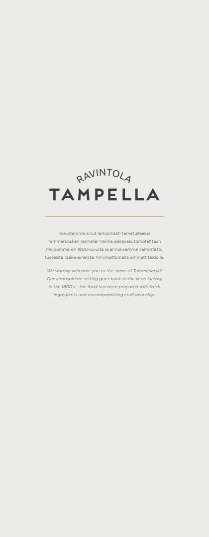 Tampella menu 2/4