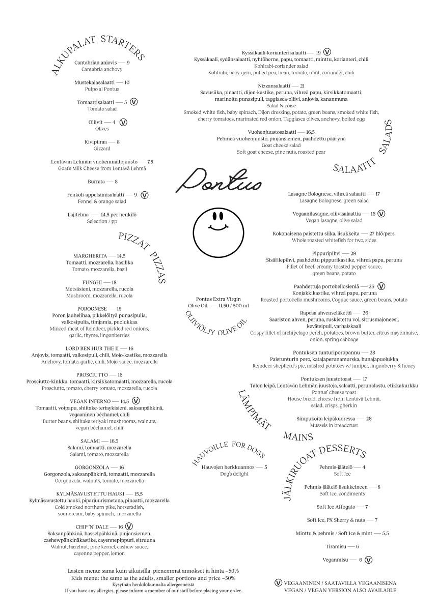 Pontus menu 1/2