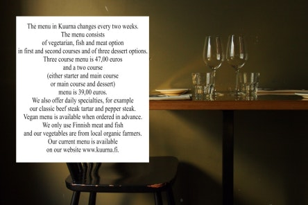 Kuurna menu 1/1