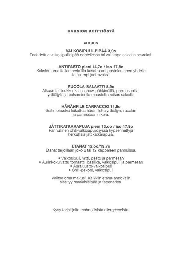 2h+k menu 3/4