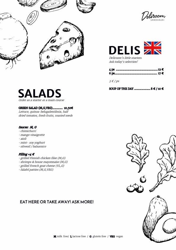 Deliroom Ukkohauki menu 1/3