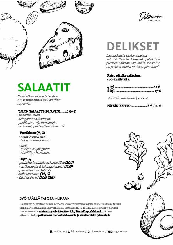 Deliroom Ukkohauki menu 2/3