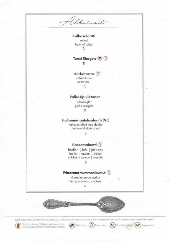 Ravintola Teini menu 2/7