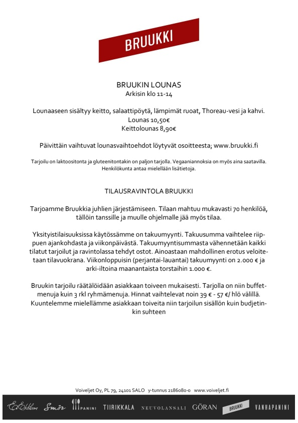 Bruukki menu 1/1
